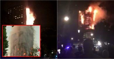 ไฟลุกท่วมตึกที่ลอนดอน ยังดับไม่ได้-หวั่นตึกถล่ม