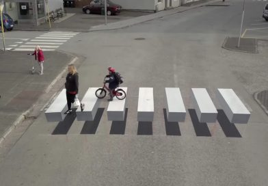 ทางม้าลาย 3 มิติ ไอเดียเจ๋งจากไอซ์แลนด์