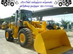 รถตักล้อยางให้เช่า พร้อมพนักงานขับ สนใจติดต่อ คุณวัลลพ 081- 7555888
