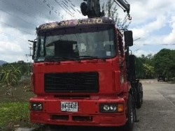 ขายด่วน รถบรรทุกติดเครน 6 ล้อ ยี่ห้อ Man
