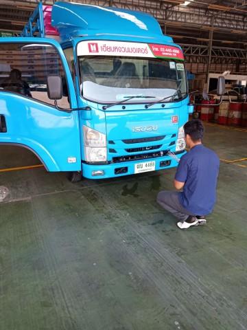 รถบรรทุกใหญ่ NLR 130 คอกแป็ป กล่อง จดป้ายเขียว ไม่ติดเวลา