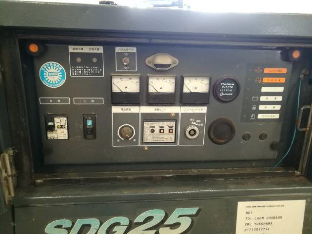 ขายเครื่องปั่นไฟเก่าญี่ปุ่น SDG25S 061-4194021 ภู
