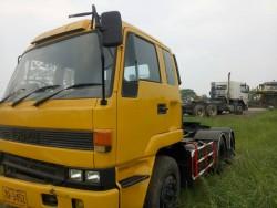 หัวลาก ISUZU 275 แรงม้า สีเหลือง เลขตัวรถ JALEXZ18JL-3000068 ปี 2554 / สภาพพร้อมใช้งาน