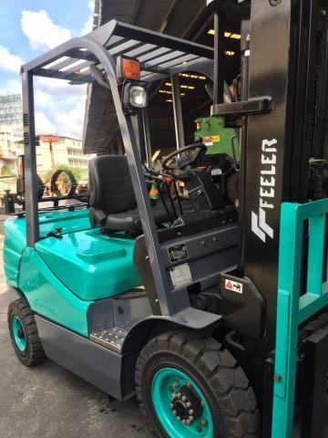 รถยก Forklift Feeler ใหม่ Diesel 2.5 Ton เครื่องยนต์ Isuzu แบรนด์ไต้หวัน ขายดีในยุโรป