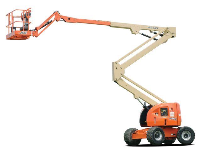 ขายรถกระเช้า JLG บูมศอก 450AJ II สูง 14 เมตร มือสอง ปรับสภาพแล้ว พร้อมใช้งาน