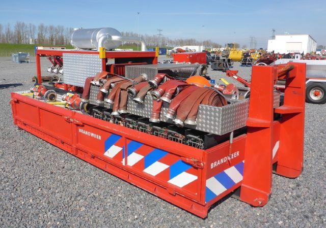 Used Rosenbauer R600 6000 LPM Roll-Off Skid Mtd Power Pu Pump (อุปกรณ์ดับเพลิง)
