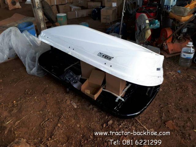 มาอีกตัวครับ สีขาว โดดเด่น ราคาถูก กล่องเก็บของติดหลังคารถ ขนาด173 x 80 x 41cm/0.57cbm ยี่ห้อ MEEDO