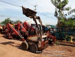 ขายถูก รถตักล้อยาง BOBCAT เครื่องยนต์ kubota ดีเซล 2 สูบ เก่าญี่ปุ่น พร้อมใช้