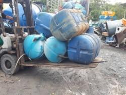 แท๊งก์น้ำ ถังใส่น้ำ 300 ลิตร สำหรับเครื่องโม่ ผสมปูน ติดรถบรรทุก เก่าญี่ปุ่น ใบละ 6,500-