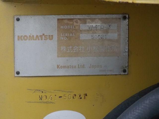 KOMATSU WA400-3 บุ๋งกี๋แบบคืบไม้ สภาพสวย