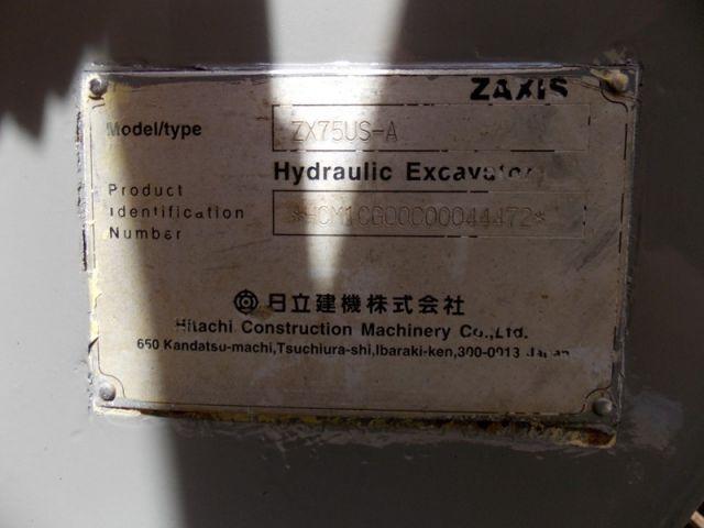 ขายรถแมคโค HITACHI ZX75US-A-44472 รถนอกขายถูก