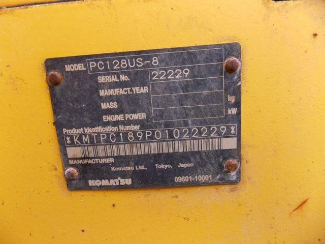 ขายรถแมคโค KOMATSU-PC128US-8-22229 รถนอก..ขายถูก