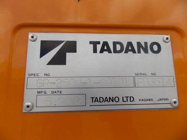 ขายรถเครน TADANO GR250N-1 FB3514 รถนอก..ขายถูก
