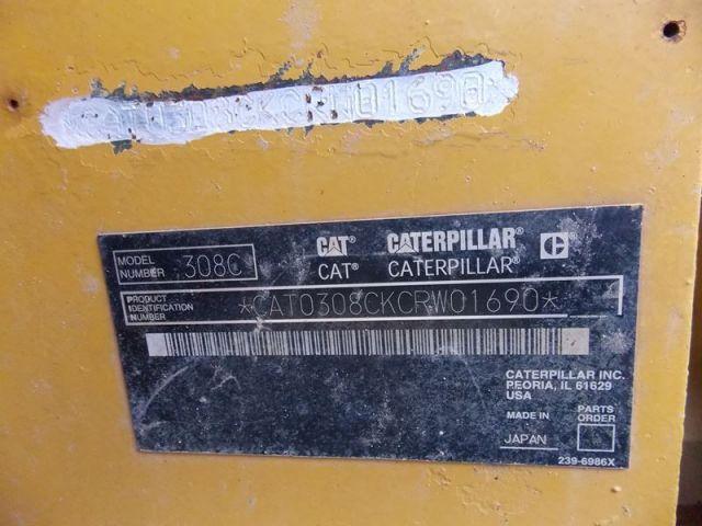ขายรถแบคโฮ CAT 308CSR-CRW01690 เก่าญี่ปุ่นแท้ ขายถูก.....