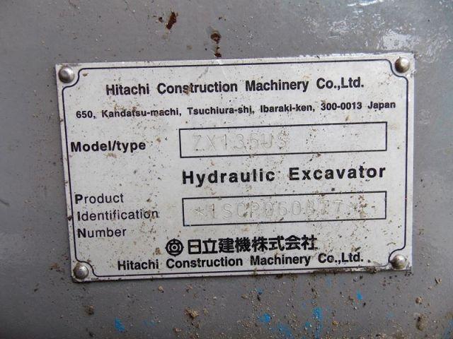 ขายรถแบคโฮ HITACHI ZX135US Y.2000 นำเข้าจากญี่ปุ่นแท้