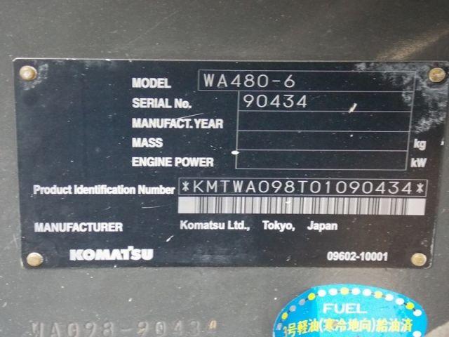 ขายรถตักล้อยาง KOMATSU WA480-6-90434