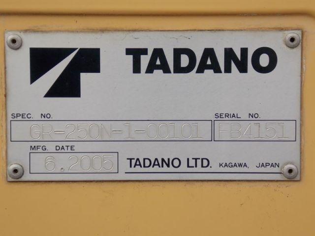 ขายรถเครน TADANO GR250N-1-FB4102 รถนอก.ขายถูก