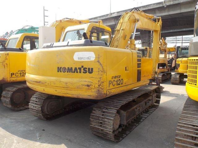 ขายรถแบคโฮพร้อมหัวแม่เหล็ก KOMATSU PC120-6 รถนอก..ขายถูก