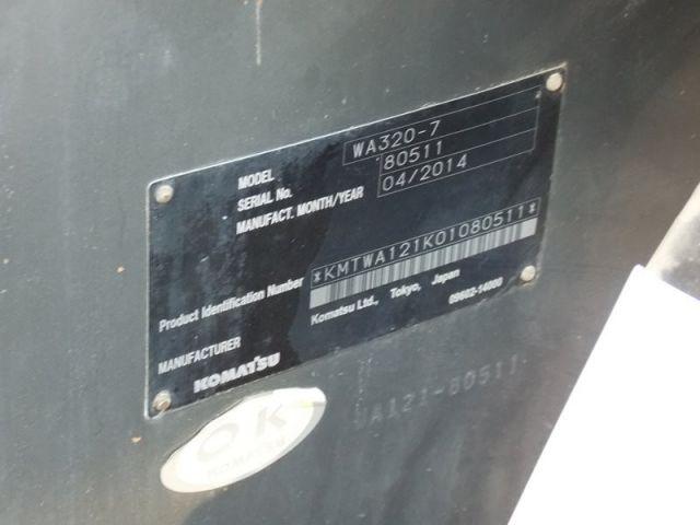 ขายรถตักล้อยาง KOMATSU WA320-7 รถนอก..ขายถูก