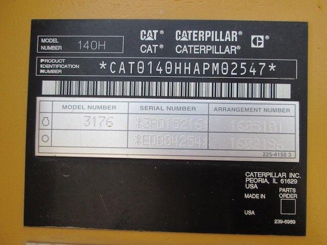 ขายรถเกรดถนน CAT140H AMP02547 รถนอก..ขายถูก