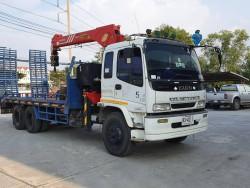 ขายรถบรรทุกติดเครน ISUZU DEGA 210 HP พร้อมเครน SANY PALFINGER ขนาด 5 ตัน