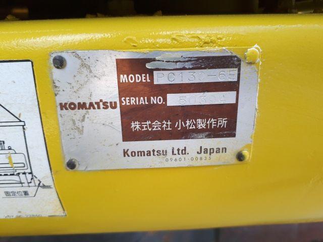 ขายรถแมคโค KOMATSU PC130-6 สภาพสวยพร้อมใช้งาน รถนอก..ขายถูก