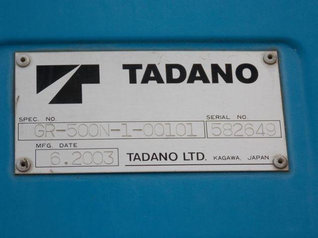 ขายรถเครนสี่ล้อ TADANO GR500N-1 เก่าญี่ปุ่นแท้ รถนอก..ขายถูก