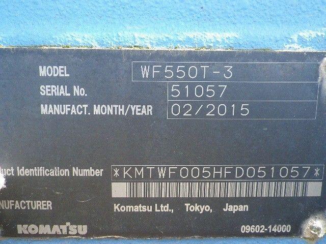 ขายรถดันขยะ KOMATSU WT550 เก่าญี่ปุ่นแท้