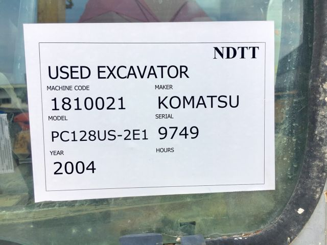 Komatsu PC128US-2E1 นำเข้าจากญี่ปุ่น โทร. 080-6565422 (หนิง)