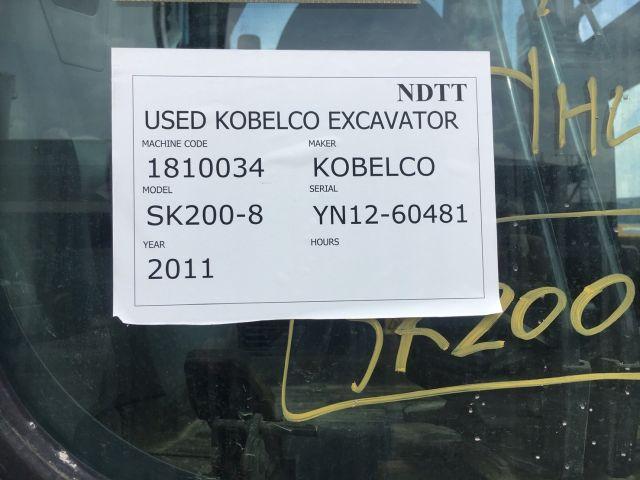 KOBELCO SK200-8 #YN12-60481 รถขุด นำเข้าจากญี่ปุ่น โทร. 080-6565422 (หนิง)